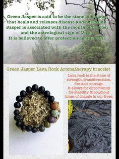 $10.00 green Jasper and lava rock aromatherapy bracelet https://www.facebook.com/3eyedgoddess/