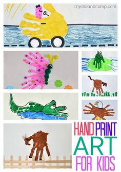 hand print art for kids (tutorials for the entire alphabet)