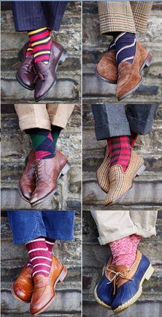 preppy patterned socks - reminds me of Gramps ;)
