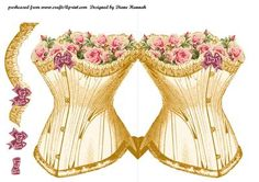 Gold Corset  on Craftsuprint - Add To Basket!