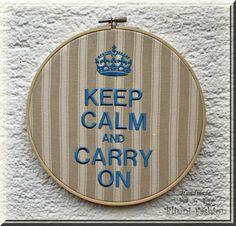 Keep calm and carry on  im Stickrahmen Wandbild von BlinniFashion, €24.90