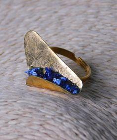Δαχτυλίδι με Διπλωμένο Φύλλο Druzy Ring, Rings, Jewelry, Fashion, Moda, Jewlery, Jewerly, Fashion Styles, Ring