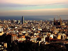 Barcelona, Catalonia - When you think about traveling, every destination in the world can be interesting in its own way, but when it comes to honeymoon there is only dozen of places suitable Top Honeymoon Destinations, Travel Sights, Montserrat, Morning View, European Destination, Barcelona Spain, San Francisco Skyline, Paris Skyline, Traveling By Yourself