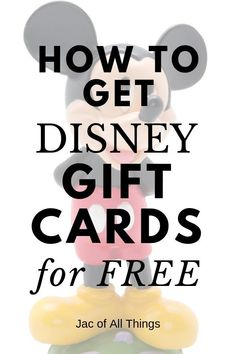 Learn how to get discounted Disney gift cards for your upcoming trip to Disney! This ultimate guide walks you through where to buy Disney gift cards for cheap and even how you can earn them for free! A must read if you want to save money at Disney World! Disney World Gifts, Disney World Shows, Disney World Tips And Tricks, Disney Tips, Disney World Vacation, Disney Vacations, Walt Disney, Disney Ideas, Disney On A Budget