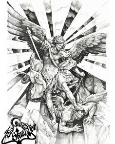 Свободный эскиз #skulptor #sketch #sketchtattoo #tattoo #tattooartist #tattoolife #арханеглмихаил #татуировка #эскизы #эскизтату #скульптор #татуспб #спб Angel Tattoo Designs, Tattoo Sleeve Designs, Tattoo Designs Men, Archangel Michael Tattoo, St Michael Tattoo, Chest Tattoo Wings, Chest Piece Tattoos, Heaven Tattoos, Dream Tattoos