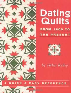 This one-of-a-kind reference provides basic facts about antique quilt styles, fabrics, fillers, sizes, borders and edges, patterns, sewing techniques, signatures, dyes, and printing techniques, making identification easy.