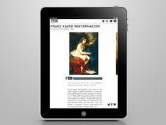 Frye Art Museum iPad App by Cassie Bales, via Behance