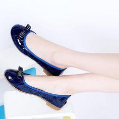 Women's Pure Color Low-heel Ballerina