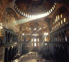 interior, hagia sophia, mosqu, travel, turkey