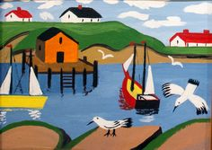 Maude Lewis had a difficult life but her exuberance is shown through the simple and brilliant paintings she produced.