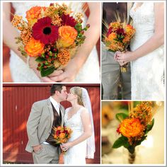 Fall Wedding Flowers For A Rustic Wedding held in October 2011 at the Historic Prallsville Mills