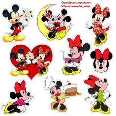 Картинки с Микки и Минни Маус, высечки