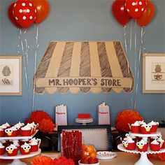 Celebrate your child's birthday on Sesame Street with your favorite furry red monster of all, Elmo! Bring Hooper's store front to your house with these DIY Elmo party ideas. (via chickabug blog!) @Kelly Anderson