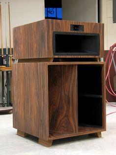 Klipsch Khorn V-Trac Upgrades - Restoration - La Scalas - Volti Audio Klipsch Speakers, Audiophile Speakers, Hifi Audio, Stereo Speakers, Open Baffle Speakers, Horn Speakers, Built In Speakers, Audio Stand, Speaker Building
