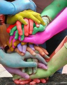 we are all different colors living in the same box of crayons.