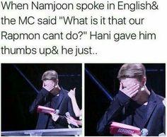 Shy namjoon is my weakness!