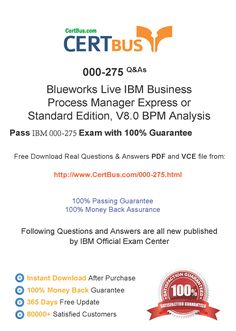 Candidate need to purchase the latest 000-275 Dumps with latest 000-275 Exam Questions. Here is a suggestion for you: Here you can find the latest 000-275 New Questions in their 000-275 PDF, 000-275 VCE and 000-275 braindumps. Their 000-275 exam dumps are with the latest 000-275 exam question. With 000-275 pdf dumps, you will be successful. Highly recommend this 000-275 Practice Test.If you need a good 000-275 study guide, this 000-275 vce dumps should be your first choice.