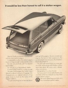 1965 Volkswagen Squareback Wagon - Newsweek Magazine Advertisement, Nov 22,'65 #volkswagenclassiccars