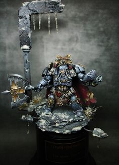 "Logan Grimnar ""The Great Wolve"" by Cristian Sanchez Miralles (Kai) · Putty&Paint Warhammer Models, Warhammer Fantasy, Warhammer 40000, Sci Fi Miniatures, Warhammer 40k Miniatures, Warhammer 40k Space Wolves, Miniaturas Warhammer 40k, Marine Colors, Grey Knights"