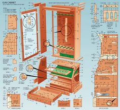 Gun Cabinet Plan #FineWoodworkingPlans