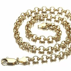 Second hand 9ct gold belcher chains