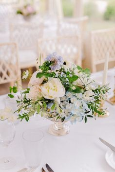Pretty pastel floral centrepiece | One Fab Day Floral Wedding Decorations, Floral Centerpieces, Wedding Flowers, Table Decorations, Wedding Planner, Destination Wedding, Wedding Venues, Wedding Table, Our Wedding