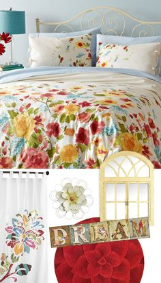 Vintage Garden theming from Pier 1: Give your room a spring makeover with bright, happy flowers.