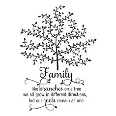Like branches on a tree, we all grow in different directions but our roots remain as one [tree]