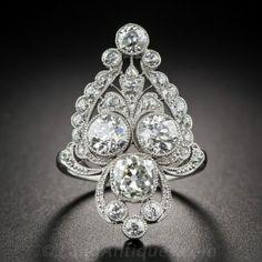 Marcus & Co. Edwardian Platinum and Diamond Dinner Ring