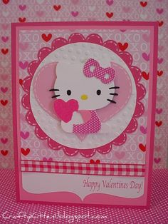 I don't have the Hello Kitty die cut, but I do have a lot of Hello Kitty paper so I can do this layout.