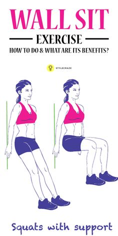 perfect wall sit form  workouts  pinterest  wall sits