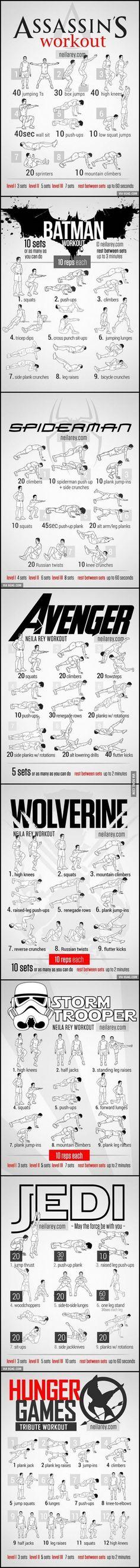 Workout-for-Assassin-Batman-Spiderman-Avenger-Wolv