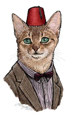 0856d040 The 11 incarnations of Doctor Who beautifully rendered as cats Doctor Cat,  Eleventh Doctor,