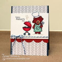 Winston BBQ  Father's Day card by Tessa Wise for Newton's Nook Designs