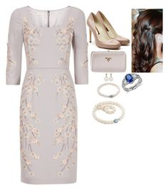 """""""Attending the RHS Chelsea Flower Show"""" by fashion-royalty ❤ liked on Polyvore featuring Monsoon, Prada, Rupert Sanderson, Tiffany & Co. and Blue Nile"""