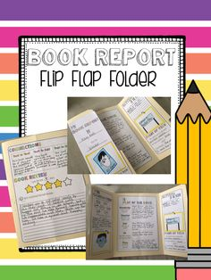 Book Report Flip Flap Folder Book for ANY Fiction book. Great for read alouds, whole class novel studies, or independent reading. I use this particular activity for independent reading/accelerated reading. My students love it!
