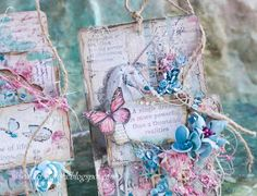 Art_Dorota (Dorota (Kopeć) Kotowicz: Wonderland Mixed Media Journal, Mixed Media Art, Book Journal, Art Journals, Love Tag, Sea Crafts, Diy Notebook, Butterfly Cards, Bedroom Themes