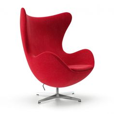 Egg Lounge Chair Red