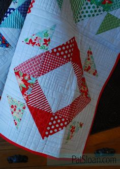 Pat Sloan Triangle book Boden quilt 2 - Pat Sloan