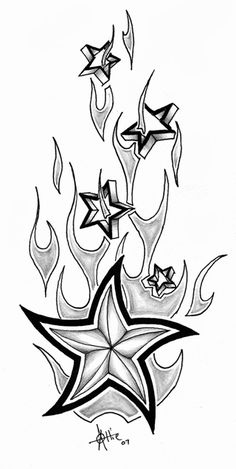 The Star by black-sepulture - Best Tattoos Cool Tattoo Drawings, Badass Drawings, Art Drawings Sketches, Tattoo Sketches, Pencil Drawings, Drawings Of Stars, Body Art Tattoos, Sleeve Tattoos, Nautical Star Tattoos