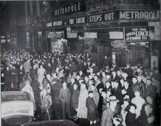 A night out in the Metropole, Dublin 1937.