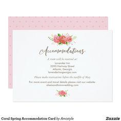 Greenery wedding accommodation card accommodations card greenery coral spring accommodation card accommodations cardcard weddingwedding stopboris Images