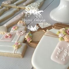 """""""She knew she loved him when """"home"""" went from being a place, to being a person."""" E. Leventhal #wedding #bridalshower #love #customsweets #customcookies #suzannesbridalshower #cookiefavors #mayrascakepops #sweetsforeveryoccasion"""
