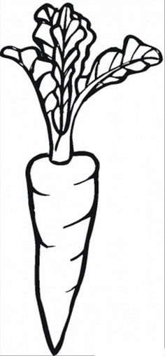 I Love Carrot Vegetable Coloring Pages - Fruit Coloring Pages : KidsDrawing – Free Coloring Pages Online