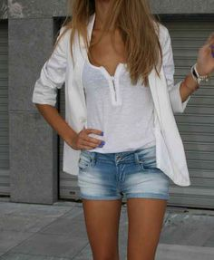 summer style. i need a white blazer
