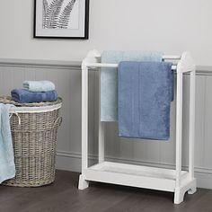 White Free Standing Towel Rack