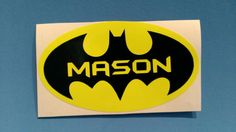 Personalized Batman Sticker Decal by PersonalizedJewellz on Etsy, $4.00 #teamdream