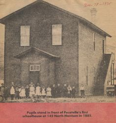 Pocatello's first school house, circa Pocatello Idaho, Personal History, History Photos, Main Street, Homeschool, America, Travel, Schools, Architecture