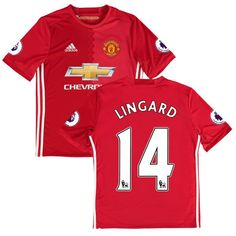 Jesse Lingard Manchester United adidas Youth 2016/17 Home Replica Jersey - Red - $71.24