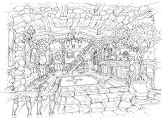 Kusanagi Studio Final Fantasy IX Artwork Images - The Final Fantasy Wiki - 10 years of having more Final Fantasy information than Cid could research! Colouring Pages, Coloring Books, Background Drawing, Artwork Images, Cool Sketches, Character Design References, Drawing Reference, Game Art, Concept Art
